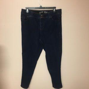 Lane Bryant skinny dark wash tummy control Plus 18